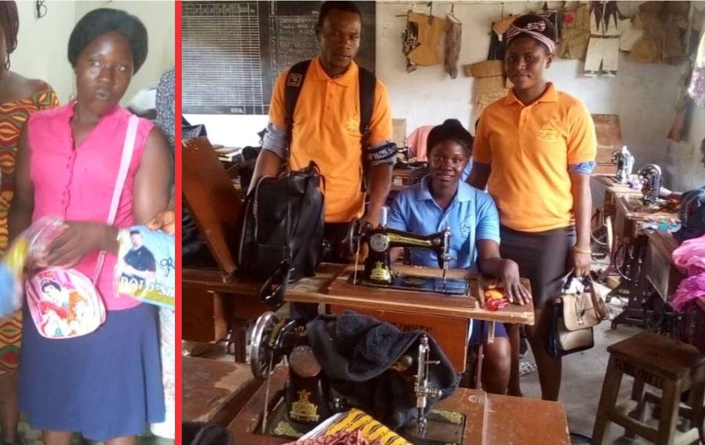 Finah Marah now enrolled at SLOIC Makeni Tailoring Department